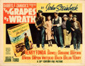Movie Posters:Drama, The Grapes of Wrath (20th Century Fox, 1940). Folded, Fine...
