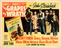 "The Grapes of Wrath (20th Century Fox, 1940). Folded, Fine+. Half Sheet (22"" X 28"") Style B"