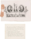 Political:Small Paper (1896-present), McKinley & Hobart: Jugate 1897 Inaugural Ball Program. . ... (Total: 2 Items)
