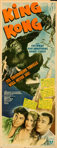 "Movie Posters:Horror, King Kong (RKO, R-1942). Folded, Fine+. Insert (14"" X 36"").. ..."