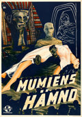 "Movie Posters:Horror, The Mummy's Hand (Universal, 1941). Rolled, Very Fine. Swedish One Sheet (27.5"" X 39.5"") Gosta Aberg Artwork.. ..."