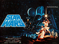 "Star Wars (20th Century Fox, 1977). Rolled, Very Fine. British Quad (30"" X 40"") Pre-Academy Award Style, Greg..."