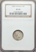 Coins of Hawaii , 1883 10C Hawaii Ten Cents XF45 NGC. NGC Census: (5...