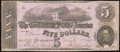 Confederate Notes:1862 Issues, T53 $5 1862 PF-2 Cr. 382 About Uncirculated.. ...