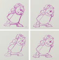 Animation Art:Production Drawing, Beauty and the Beast Cogsworth Animation Drawings Sequenceof 12 (Walt Disney, 1991).... (Total: 12 Items)