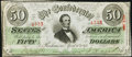 Confederate Notes:1863 Issues, T57 $50 1863 PF-3 Cr. 408 Extremely Fine.. ...