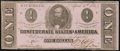 Confederate Notes:1863 Issues, T62 $1 1863 PF-10 Cr. 478 Crisp Uncirculated.. ...
