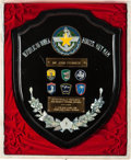 Military & Patriotic, [John Steinbeck]. Military Plaque and Insignia....