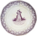 Political:3D & Other Display (pre-1896), James K. Polk: Possibly Unique French Export Soft Paste Plate....