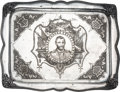 Political:3D & Other Display (pre-1896), Ulysses S. Grant: Rare Elaborately-Engraved Serving Tray. . ...