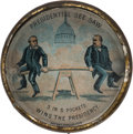 """Political:3D & Other Display (pre-1896), Benjamin Harrison & Grover Cleveland: Fantastic 1892 """"Presidential See-Saw"""" Dexterity Game.. ..."""