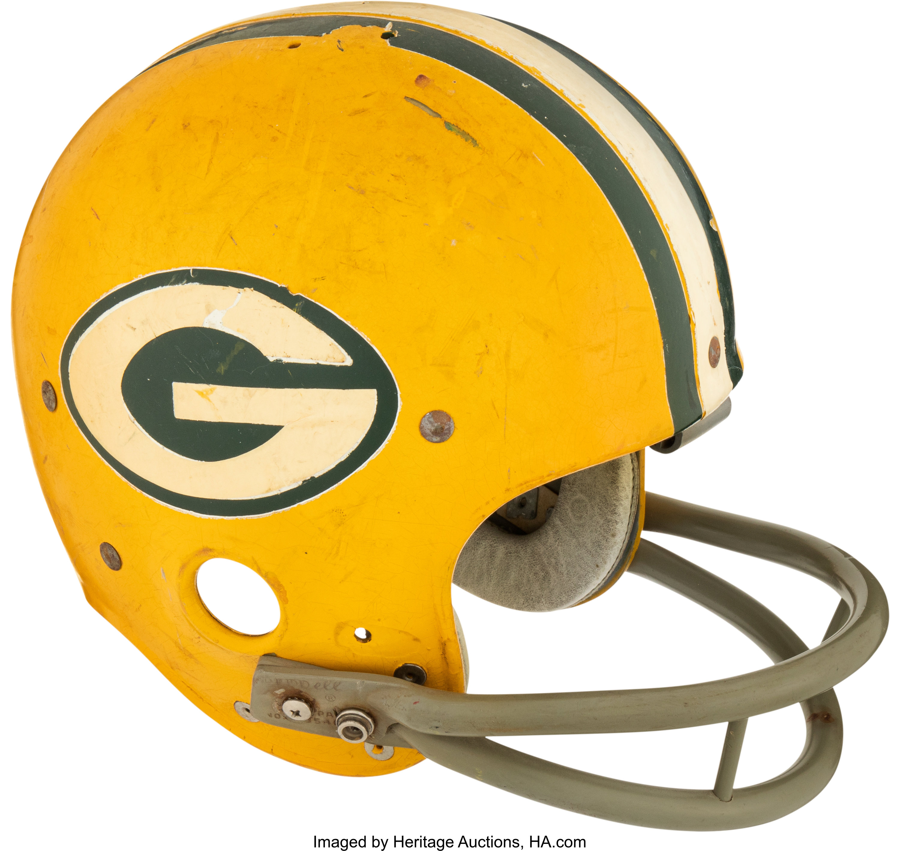 Mid To Late 1960 S Green Bay Packers Game Worn Helmet Football Lot 53111 Heritage Auctions