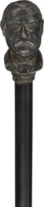 Political:3D & Other Display (pre-1896), Grover Cleveland: Unusual Walking Stick with Small Head Handle.. ...