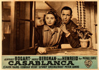 "Casablanca (Warner Bros., R-1948). Fine/Very Fine on Linen. Italian Photobusta (13.5"" X 9.5"")"