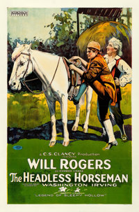 """The Headless Horseman (Hodkinson Pictures, 1922). Rolled, Fine. One Sheet (27"""" X 41"""") Style A"""