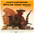"Movie Posters:Western, The Outlaw Josey Wales (Warner Bros., 1976). Very Fine on Linen. International Six Sheet (78"" X 76.75"") Roy Andersen Artwork..."
