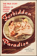 """Movie Posters:Adult, Forbidden Paradise (Colorama, 1958). Folded, Very Fine-. One Sheet (27"""" X 41""""). Adult.. ..."""