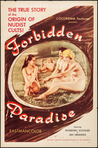 """Forbidden Paradise (Colorama, 1958). Folded, Very Fine-. One Sheet (27"""" X 41""""). Adult"""