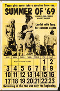 "Movie Posters:Adult, Summer of '69 (Distribpix, 1969). Folded, Fine/Very Fine. One Sheet (27"" X 41""). Adult.. ..."
