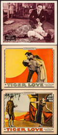 "Movie Posters:Romance, Tiger Love & Other Lot (Paramount, 1924). Fine/Very Fine. Lobby Cards (3) (11"" X 14"" & 11"" X 14.25""). Romance.. ... (Total: 3 Items)"