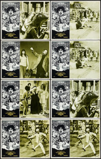 """200 Motels (United Artists, 1971). Very Fine. Lobby Cards (8) (11"""" X 14""""). David McMacken Artwork. Rock and Ro..."""