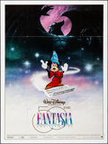 Movie Posters:Animation, Fantasia (Warner Brothers, R-1990). Folded, Very Fine....