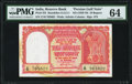 World Currency, India Persian Gulf Issue 10 Rupees ND (1959-70) Pick R3 Jhun&Rez 6.12.3.1 PMG Choice Uncirculated 64.. ...