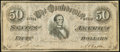 """Confederate Notes:1864 Issues, CT66/501 """"Havana Counterfeit"""" $50 1864 Very Fine.. ..."""