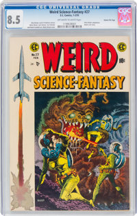 Weird Science-Fantasy #27 Gaines File Pedigree (EC, 1955) CGC VF+ 8.5 Off-white to white pages