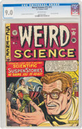 Golden Age (1938-1955):Science Fiction, Weird Science #12 (#1) (EC, 1950) CGC VF/NM 9.0 Off-white pages....