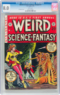 Golden Age (1938-1955):Science Fiction, Weird Science-Fantasy Annual #1 (EC, 1952) CGC VF 8.0 White pages....
