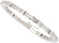 Estate Jewelry:Bracelets, Diamond, White Gold Bracelet. ...