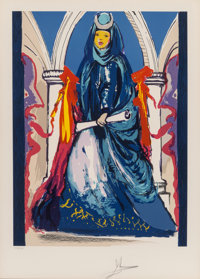 Salvador Dalí (1904-1989) Lady Blue, 1979 Lithograph in colors on Arches paper 22-7/8 x 17 inches