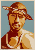 Prints & Multiples:Contemporary, Shepard Fairey (b. 1970). Tupac Red, 2004. Screenprint in colors on cream speckled paper. 24 x 18 inches (61 x 45.7 cm) ...
