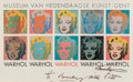 Prints & Multiples:Contemporary, After Andy Warhol. Warhol, exhibition poster, 1964. Offset lithograph in colors on paper. 24 x 38 inches (61 x 96.5 cm) ...