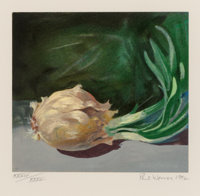 Paul Wonner (1920-2008) Still Life (Onion), 1992 Lithograph in colors on wove paper 12-1/2 x 12-3