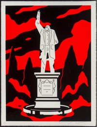 Cleon Peterson (b. 1973) Monument to Power, Corruption (First Edition), 2019 Screenprint in colors o
