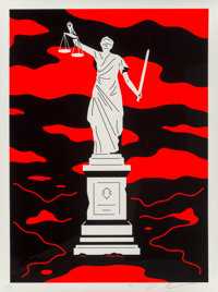 Cleon Peterson (b. 1973) Monument to Power, Law (First Edition), 2019 Screenprint in colors on Coven