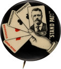 Political:Pinback Buttons (1896-present), Theodore Roosevelt: Classic Stand Pat Picture Button.. ...