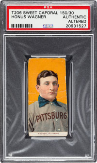 1909-11 T206 Sweet Caporal 150/30 Honus Wagner PSA Authentic/Altered