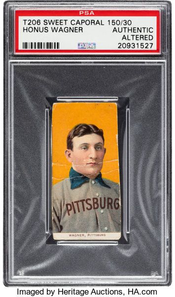 1909 11 T206 Sweet Caporal 15030 Honus Wagner Psa Authenticaltered