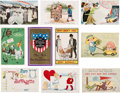 Political:Small Paper (1896-present), Woman's Suffrage: Ten Colorful Postcards.. ...