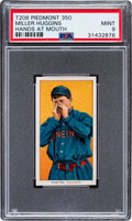 Baseball Cards:Singles (Pre-1930), 1909-11 T206 Piedmont 350 Miller Huggins (Hands At Mouth) PSA Mint 9 - Pop Two, None Higher! ...