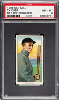 Baseball Cards:Singles (Pre-1930), 1909-11 T206 Old Mill Ty Cobb (Bat Off Shoulder) PSA NM-MT 8 - Pop Two None Higher for Brand! ...