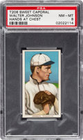 Baseball Cards:Singles (Pre-1930), 1909-11 T206 Sweet Caporal 350/30 Walter Johnson (Hands At Chest) PSA NM-MT 8 - Pop Four, Two Higher Confirmed Sweet Caporal....