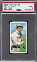 Baseball Cards:Singles (Pre-1930), 1909-11 T206 Piedmont 150 Willie Keeler (With Bat) PSA Mint 9 - Pop Four, None Higher!...