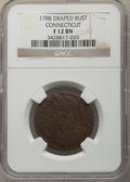 Colonials, 1788 Connecticut Copper, Draped Bust Left Fine 12 NGC. NGC Census: (4/57). PCGS Population: (4/57). . From The Poulos F...