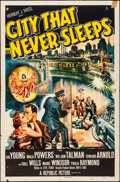 Movie Posters:Film Noir, City That Never Sleeps (Republic, 1953). Folded, Fine....