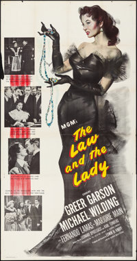 "The Law and the Lady (MGM, 1951). Folded, Fine/Very Fine. Three Sheet (41"" X 79""). Comedy"