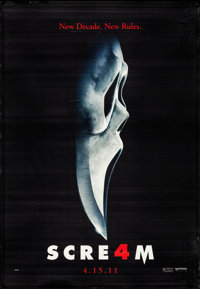 """Scream 4 & Other Lot (Dimension, 2011). Rolled, Overall: Very Fine-. Bus Shelters (2) (47"""" X 68.25"""") SS Ad..."""